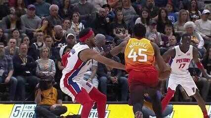 Melhores Momentos: Utah Jazz 104 x 81 Detroit Pistons pela NBA