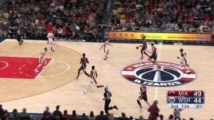 Melhores Momentos: Washington Wizards 123 x 105 Miami Heat pela NBA