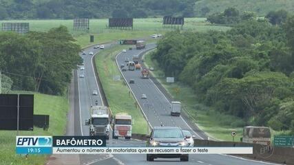 Polícia registra alta de motoristas que negam fazer teste do bafômetro em Ribeirão Preto