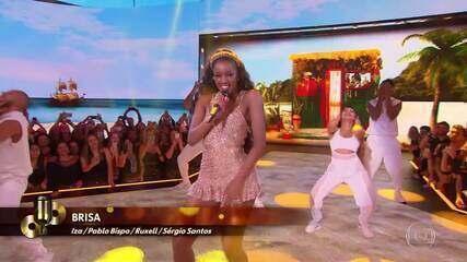 Top 06: Iza canta música Brisa