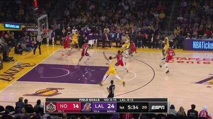 Melhores momentos: Los Angeles Lakers 123 x 113 New Orleans Pelicans, pela NBA