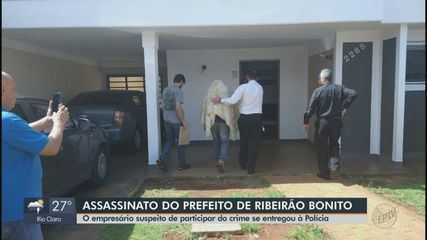 Empresário suspeito de envolvimento na morte do prefeito de Ribeirão Bonito se entrega