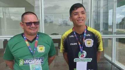 Atacante Alifi e técnico Oziel Moreira comentam vitória do Galvez em estreia na Copinha