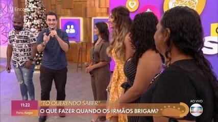 Marco Abud e Thaís Fersoza tiram dúvidas da plateia sobre briga entre irmãos