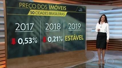 Depois de dois anos de queda, preço dos imóveis fica estável em 2019