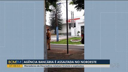 Bandidos assaltam agência bancária na madrugada em Douradina