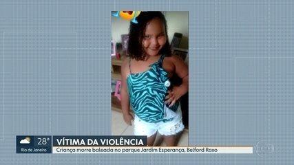 Menina de 8 anos morre baleada no Parque Jardim Esperança, em Belford Roxo, Baixada Fluminense