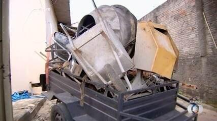 Polícia prende homem suspeito de roubar material para construção, em Goiânia