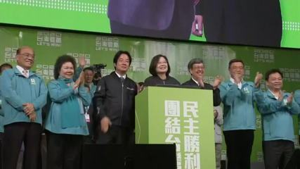 Taiwan reelege líder pró-independência como presidente