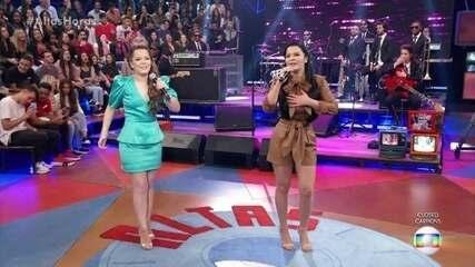 """Maiara & Maraisa abrem """"Altas Horas"""" cantando 10%"""