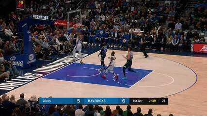 Melhores momentos: Dallas Mavericks 109 x 91 Philadelphia 76ers, pela NBA
