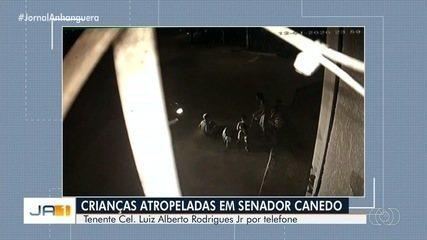Carro desgovernado atropela quatro crianças que brincavam na calçada, em Senador Canedo