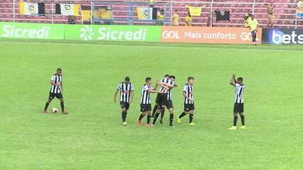 Os gols de Atlético-MG 4 x 1 São Bernardo pela Copa SP de Futebol Júnior