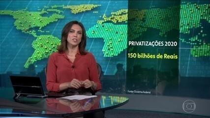 Em janeiro, governo federal planejava arrecadar R$ 150 bilhões com privatizações em 2020