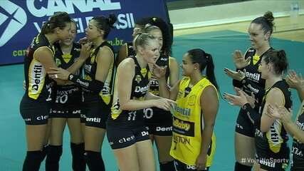 Pontos finais: Praia Clube 3 x 2 Minas pela Superliga de Vôlei Feminino