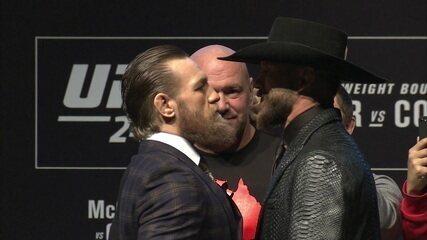 McGregor e Cerrone se encaram na coletiva do UFC 246