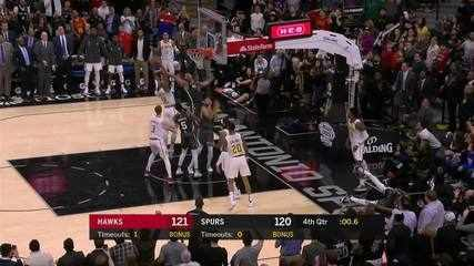 Melhores momentos: Atlanta Hawks 121 x 120 San Antonio Spurs pela NBA