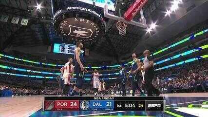 Melhores momentos: Dallas Mavericks 120 x 112 Portland Trail Blazers pela NBA