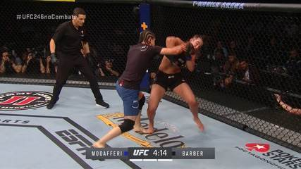 Melhores Momentos de Roxanne Modafferi x Maycee Barber no UFC 246, no dia 18/01/2020.