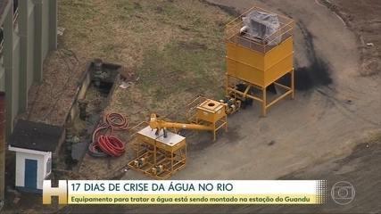 Equipamento que vai ajudar no tratamento da água está sendo montado no Rio