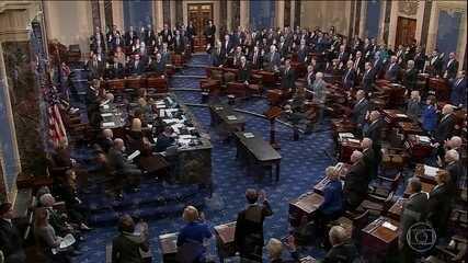 Advogados apresentam estratégia da defesa de Trump em processo de impeachment no senado