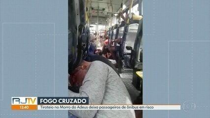 Tiroteio no Morro do Adeus coloca passageiros de ônibus em risco