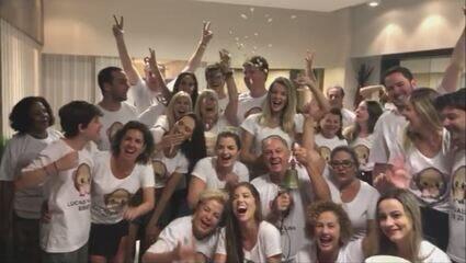 Família e amigos de Lucas Gallina se reúnem para assistir estreia do catarinense no BBB 20