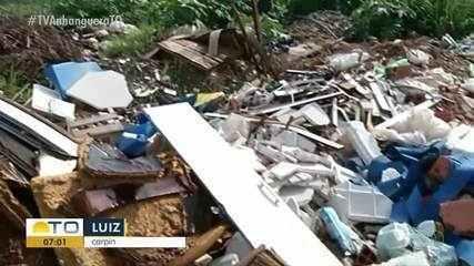 Lixo descartado em acostamento de estrada incomoda moradores de Gurupi