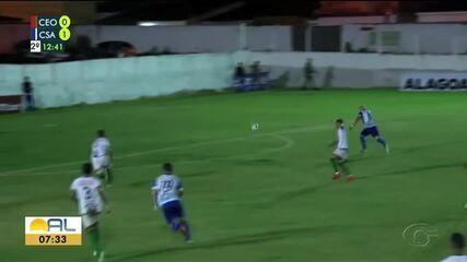 No Sertão, CSA derrota o CEO no jogo de abertura do Campeonato Alagoano