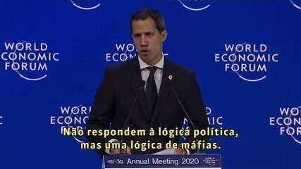 Juan Guaidó em Davos: 'Lutamos na Venezuela contra um conglomerado criminoso'