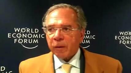 Guedes vê reconhecimento ao Brasil em Davos