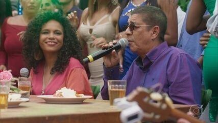 Zeca Pagodinho e Teresa Cristina participam da festa de Ramon e Francisca