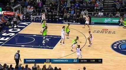 Melhores momentos: Oklahoma City Thunder 113 x 104 Minnesota Timberwolves pela NBA