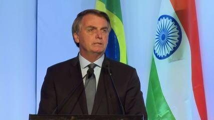 Bolsonaro busca investimentos em último dia na Índia
