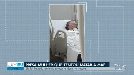 Mulher tenta sufocar a mãe no leito de hospital e é presa em São Luís