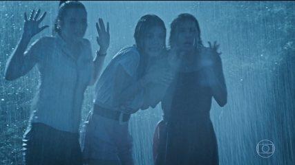 Alexia, Luna e Kyra testemunham Dominique atirar contra Vitório
