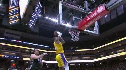 Melhores momentos de Los Angeles Lakers 129 x 113 Sacramento Kings pela NBA