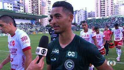 "Jefferson lamenta que gol do Goiás tenha sido ""contra"""