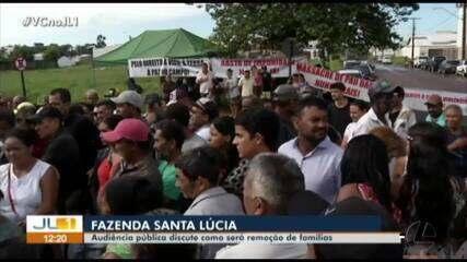 Audiência pública discute remoção de famílias da fazenda Santa Lúcia