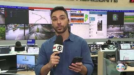 Chuva afeta trânsito em Belo Horizonte