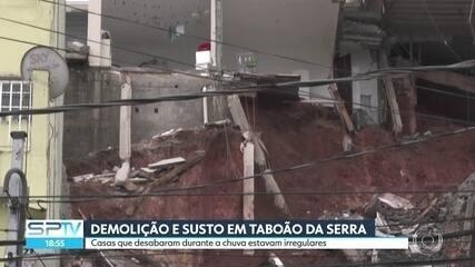 Casas que desabaram em Taboão da Serra durante estavam irregulares