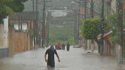 Cidades do Alto Tietê registram problemas causados pelas fortes chuvas