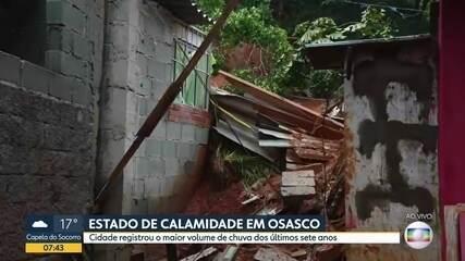 Osasco em estado de calamidade por conta do temporal