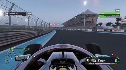João Pedro Piana crava recorde mundial na pista de Abu Dhabi no game da Fórmula 1