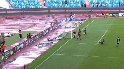 Gol do Atlético-GO! Renato Kayzer abre o placar contra o Goiás