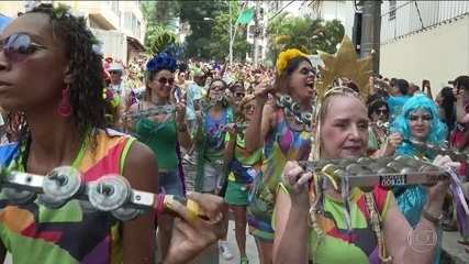Bloco da Preta e Fogo e Paixão se apresentam no pré-carnaval do Rio