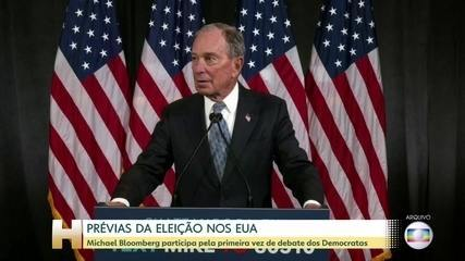Michel Bloomberg se qualifica para debate dos Democratas pela primeira vez nos EUA