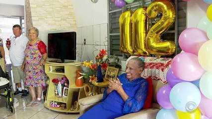 Idosa completa 112 anos neste feriado de Carnaval em Cerro Largo