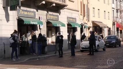 Itália confirma novas mortes pelo novo coronavírus