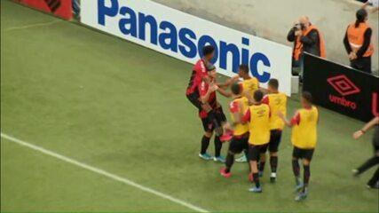 Assista aos lances de Bissoli no Athletico 5x1 Cascavel CR, pelo Paranaense